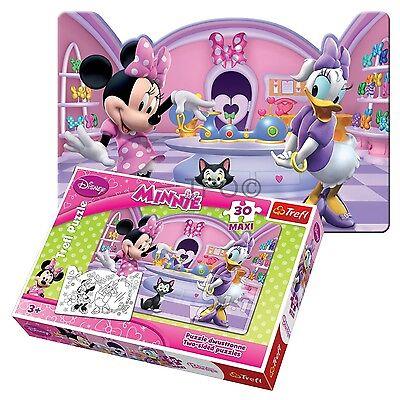 Trefl 30 Pieza Maxi de niña Minnie Mouse Grande Doble Cara Para Colorear