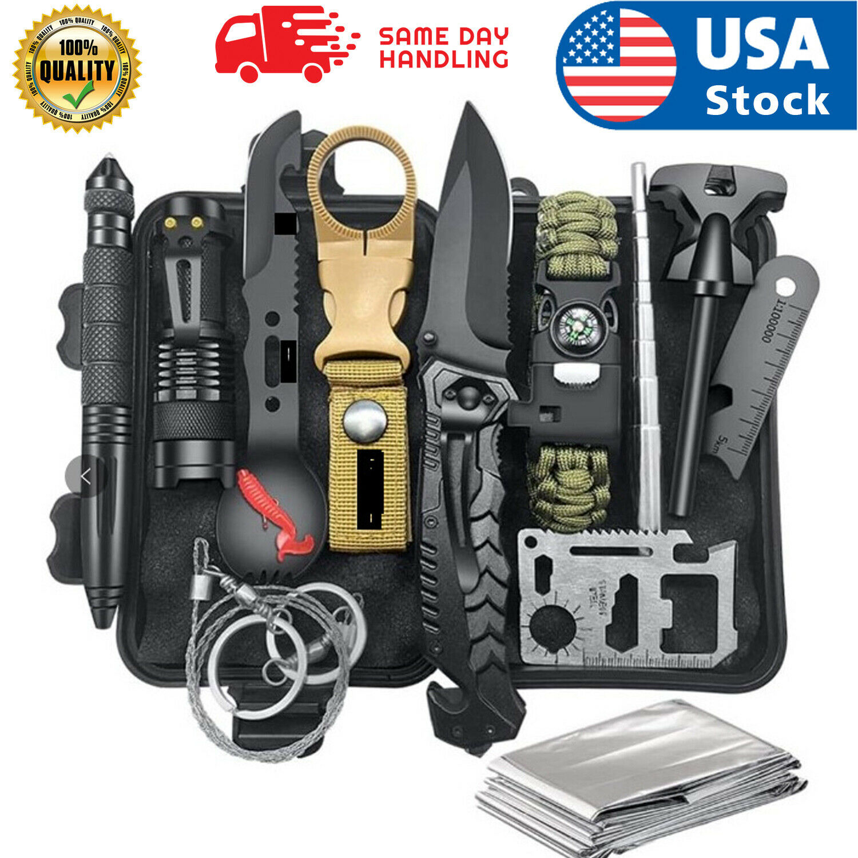 Tactical Outdoor Camping Survival Gear Kit Hunting Emergency SOS EDC Tools Box Camping & Hiking