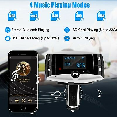 "1.5"" LCD Car Kit MP3 Player Bluetooth FM Transmitter Modulator SD USB Remote"