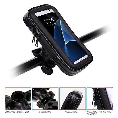 Universal Motorrad Fahrrad Halterung für Smartphone Handy Bike Set Tasche Halter (Handy-halter Für Motorrad)