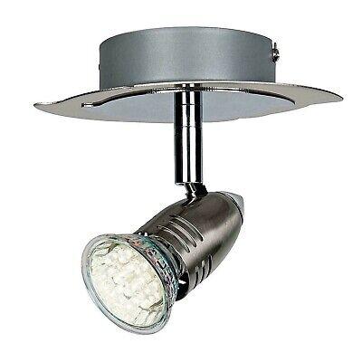 Homebase Norte Brushed Chrome Single Spotlight Ceiling Fitting X 6 (Chrome Single Spotlight)