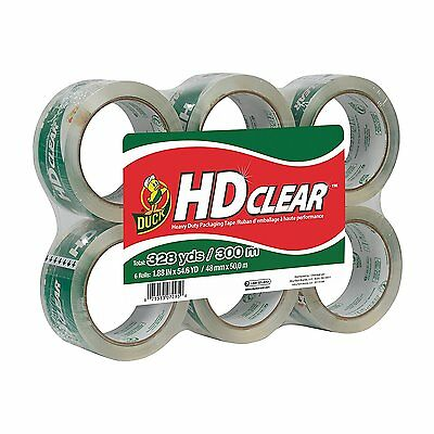 Duck Brand Hd Clear High Performance Packaging Tape 1.88 X 54.6 Yd 6 Pack