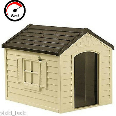 Durable Resin All Weather Extra Large Suncast Pet Dog House Home Outdoor Cage!!
