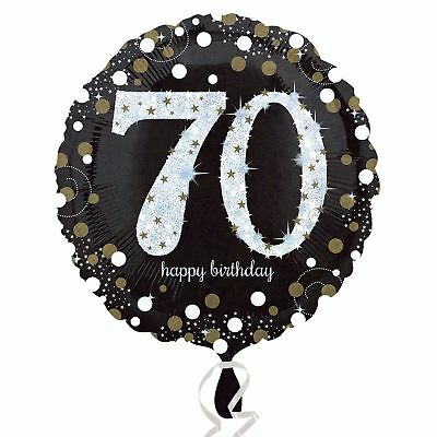 Gold Sparkling Celebration 70th Happy Birthday Standard Foil Balloon Decorations