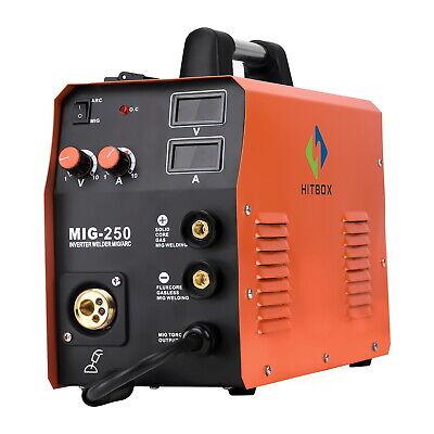 220v Mig Welder Mig250 Mag Gas Gasless Stick Mma Lift Tig Mig Welding Machine