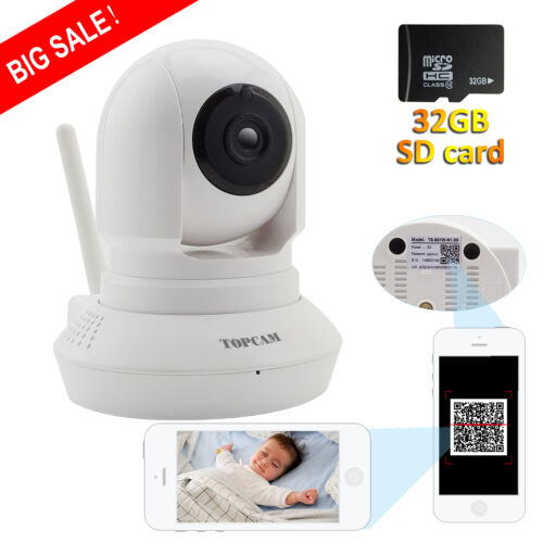 IP WIFI Baby Monitor Wireless 720P Security Camera Night Vis