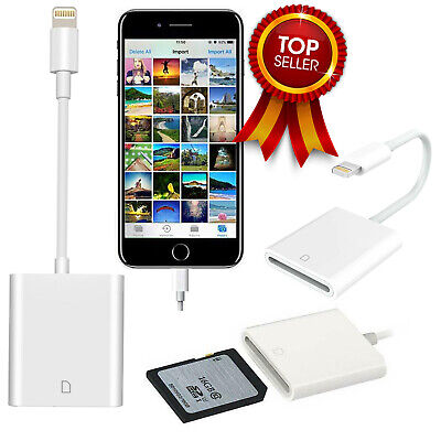 SD Card Cable Adapter Camera Card Viewer Reader for iPhone i