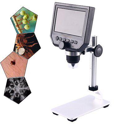 Portable 600x 4.3 Lcd Display 3.6mp Electronic Digital Video Microscope Us Ship