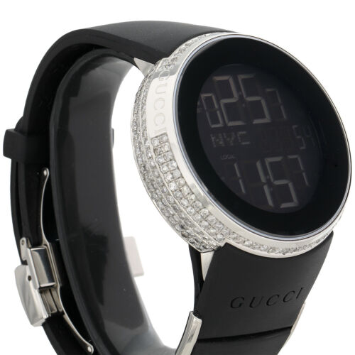 2230e10832ea2 Gucci Diamond White Watch Mens Full Casing YA114202 5 Row Custom Digital  3.5 CT.