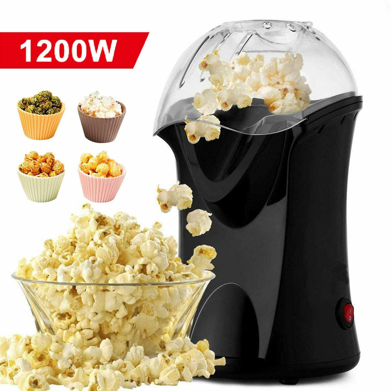 Homdox Hot Air Popcorn Maker, 1200W Popcorn Popper Electric