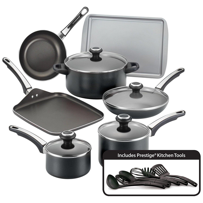 Farberware® High Performance 17-pc. Black Nonstick Cookw