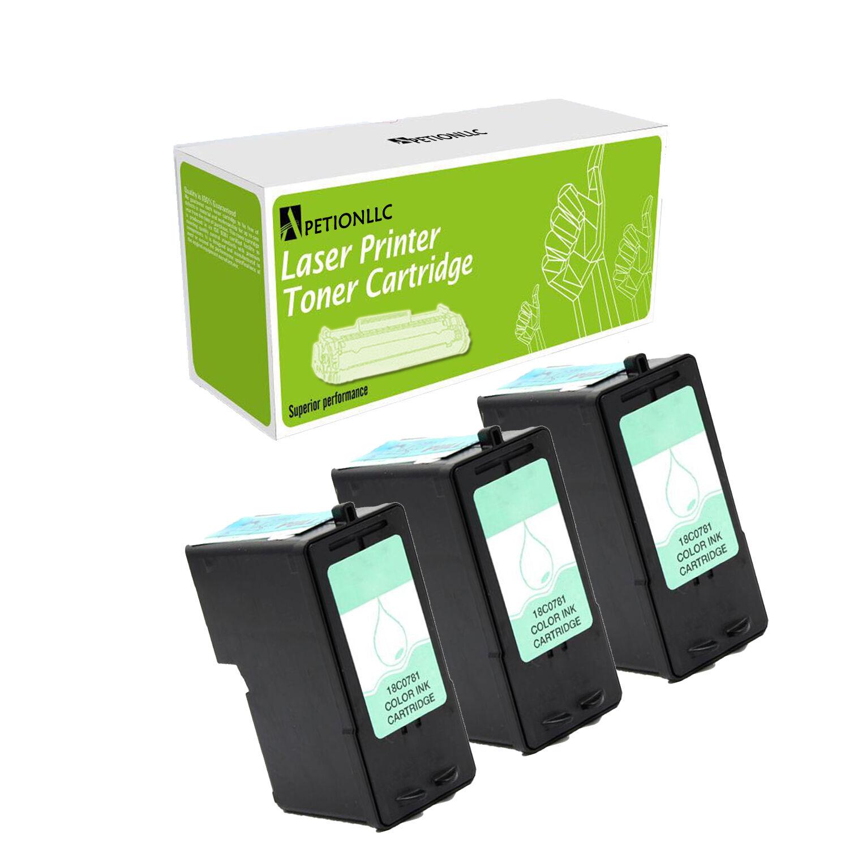 3 Pack Compatible 18c0781 ( 1 ) Color Ink Cartridge For L...
