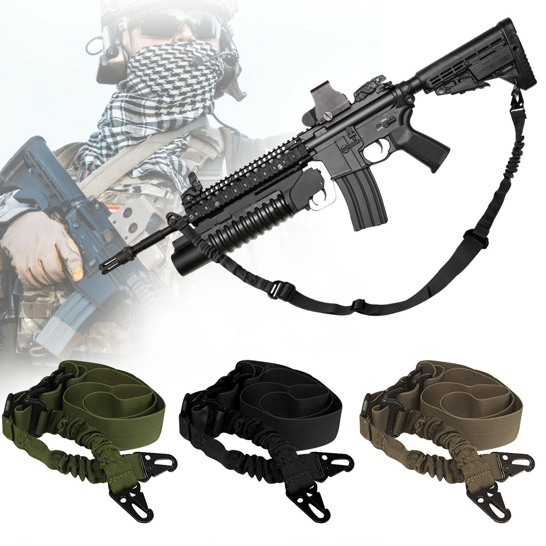 2 Point Tactical Gun Sling Shoulder Strap Outdoor Rifle Slin