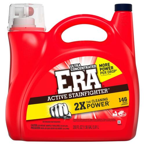ERA 2x Ultra Active Stainfighter Formula Regular Liquid Laundry Detergent 200 Oz