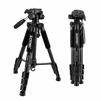 Non-slip Rubber Feet ZOMEI Q111 Aluminum Alloy Tripod for DSLR Canon DV Video