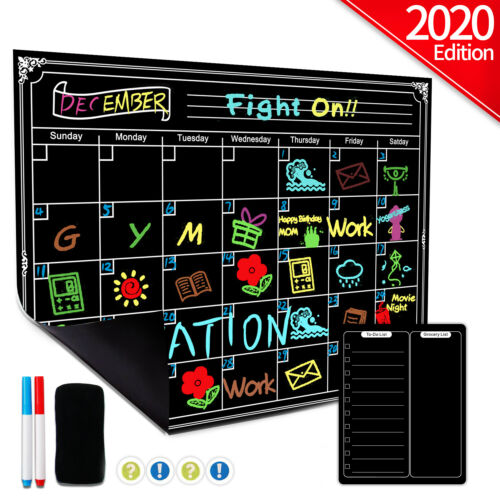 Magnetic Dry Erase Refrigerator Calendar Reusable Monthly To Do List