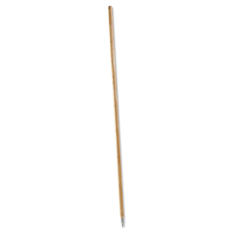 Boardwalk Metal Tip Threaded Hardwood Broom Handle 1 1/8 dia x 60 Natural 138