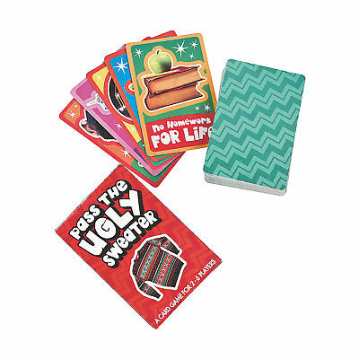 CHRISTMAS Holiday Party Game PASS THE UGLY SWEATER Fun for 2-6 Players - Games For Christmas Parties