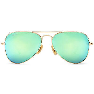 Ray-Ban Aviator Flash Lenses Sunglasses 55mm Gold Frame