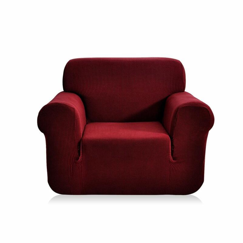 CHUN YI 1-Piece Jacquard High Stretch Armchair Arm Chair Sli