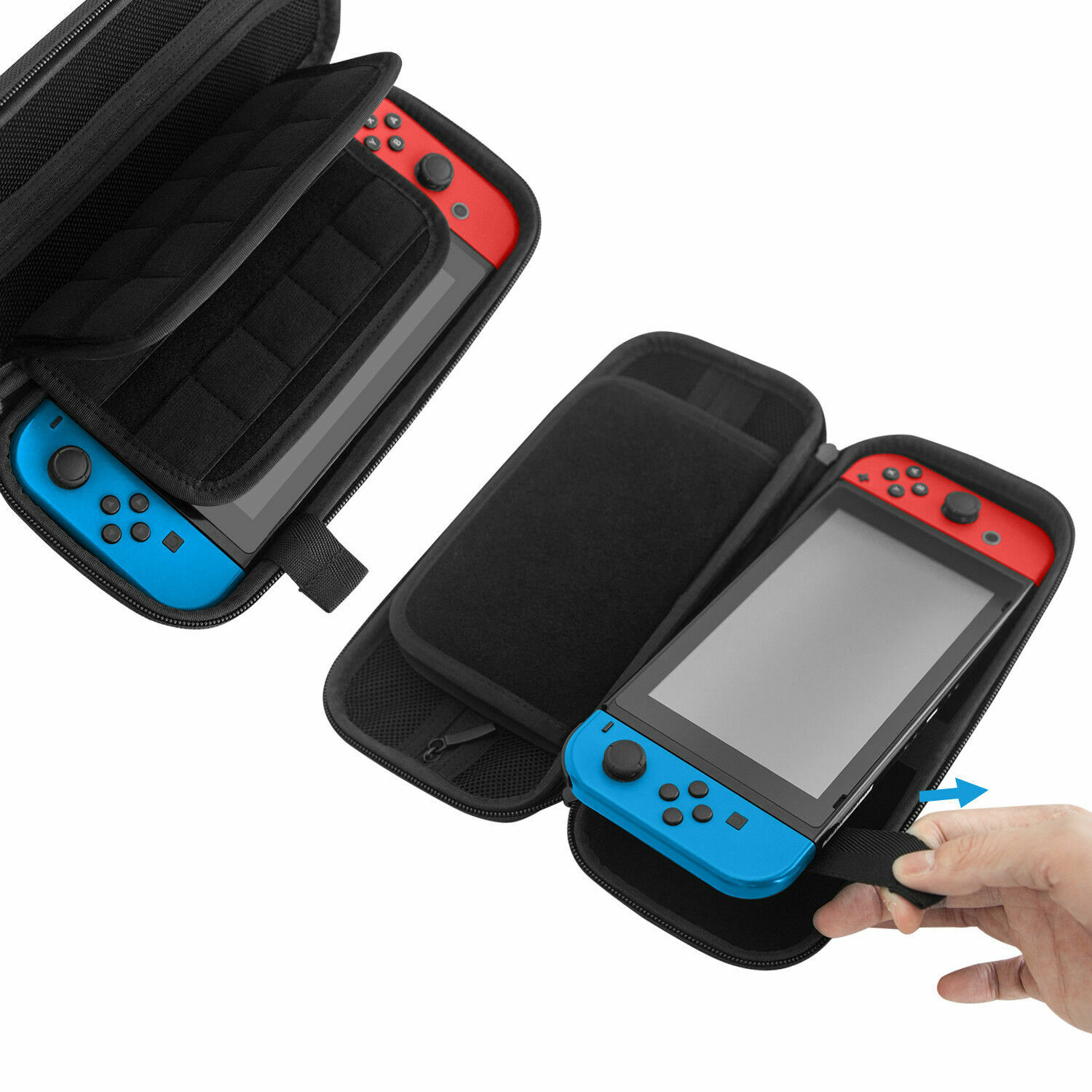 New Carrying Case for Nintendo Switch with 20 Game Cartridge Holders Only Black Bags, Skins & Travel Cases