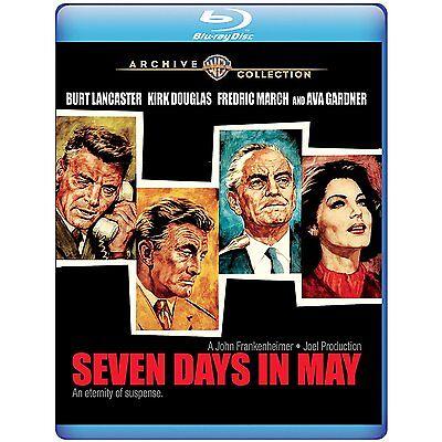 Seven Days in May 1964 (Blu-ray) Burt Lancaster, Kirk Douglas, Ava Gardner - (Seven Days In May 1964 Blu Ray)