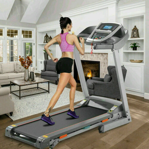 3.25HP Electric Treadmill Home Use Folding Running Machine With Bluetooth Hot!#