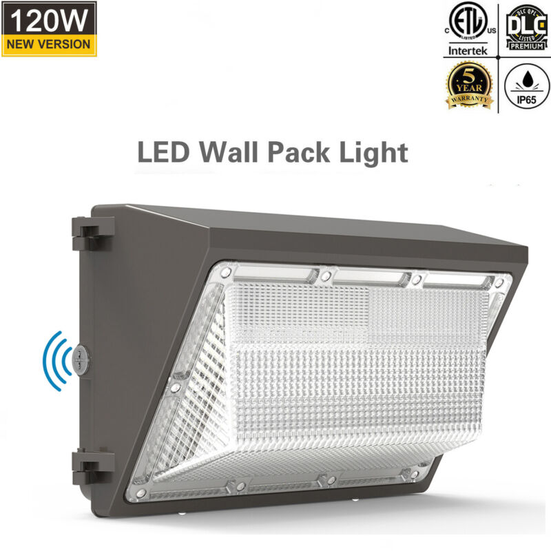 120W LED Wall Pack 120Watt Security Commercial Industrial Light Fixture 5000K