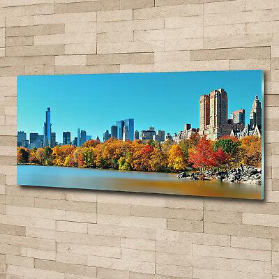 Glas-Bild Wandbilder Druck auf Glas 125x50 Sehenswürdigkeiten New York im Herbst
