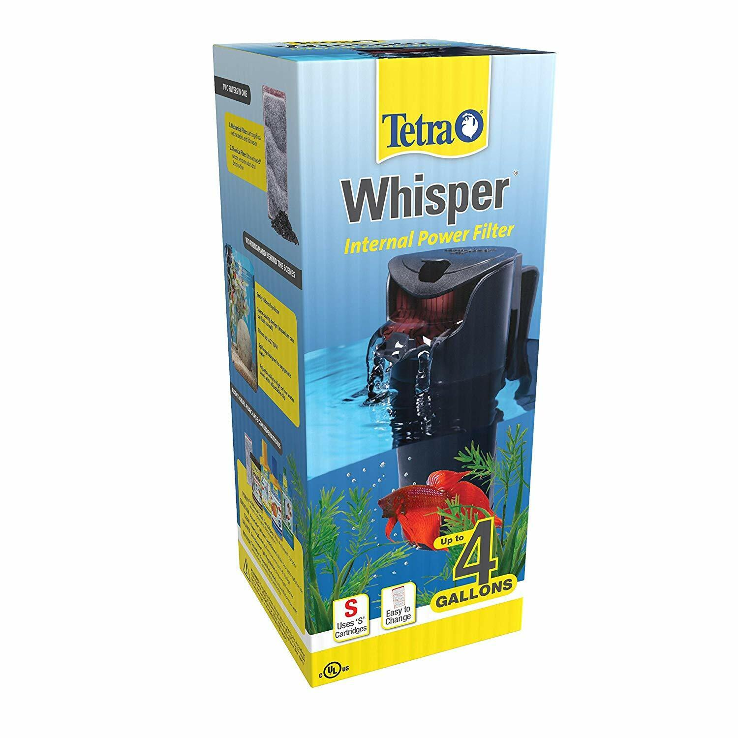 Whisper In-Tank Filter with BioScrubber, Up to 4-Gallons for
