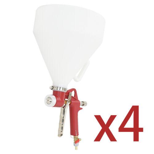 4X Texture Air Hopper Spray Gun Ceiling Wall Paint Drywall Painting 3 Nozzles Business & Industrial