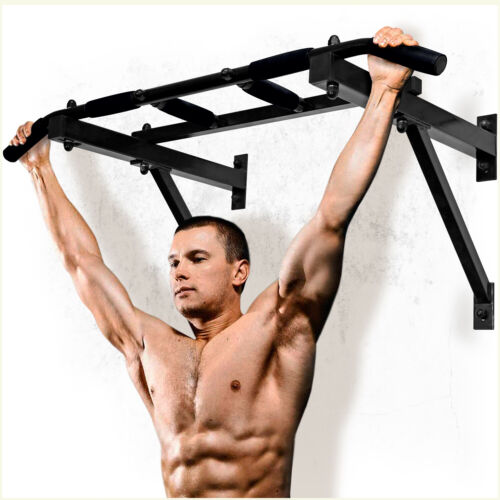 Wall Mounted Chin Up Bar Multi Grip Pull Up Bar with 6 Non-Slip Handles