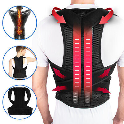 Posture Corrector Lumbar Lower Back Shoulder Support Brace Strap for Pain Relief Lower Back Brace Support