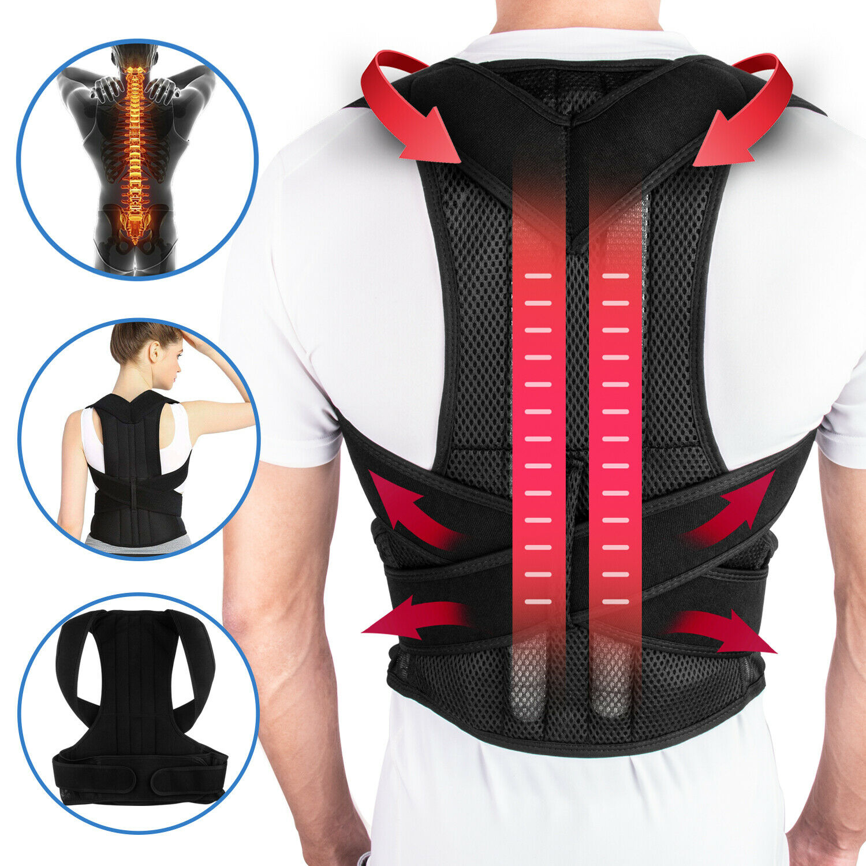 Posture Corrector Lumbar Lower Back Shoulder Support Brace S