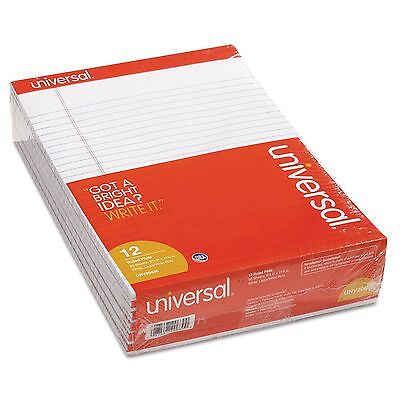 Universal Perforated Writing Pad Legal Ruled Letter 8.5 X 11 50-sheet 12-pk