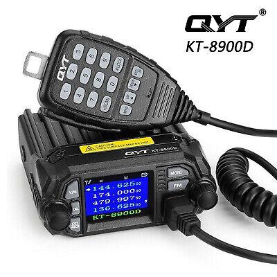 QYT KT-8900D 4 Color Dual Band Quad Standby Mini Car Truck Radio Transceiver (Mini Quad Band)