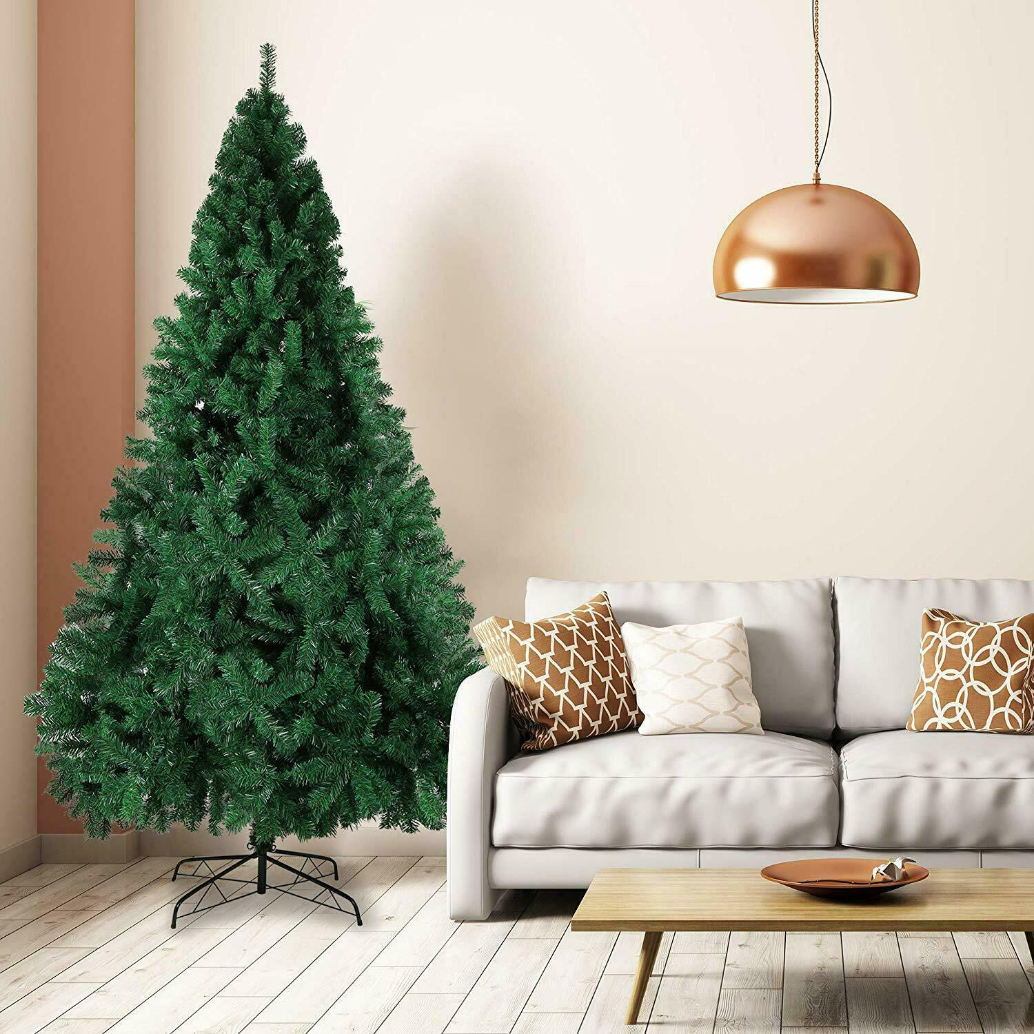 Christmas Tree 6//7FT 210cm Green Undecorated 1000 tips PVC Artificial Stand