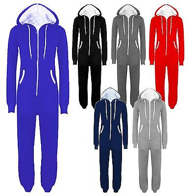 Plus Size Onesies For Men (New Mens Womens Unisex Hooded All In One Onesie Jumpsuits)