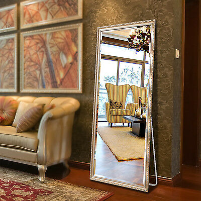 """Full Length Floor Mirror Dressing Mirror Solid Wood Frame 65""""x22"""" Champaign Gold"""
