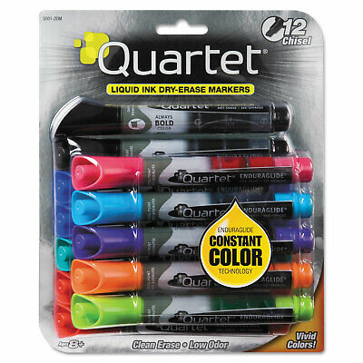 Quartet Enduraglide Dry Erase Marker Chisel Tip Assorted Colors 12set 500120m