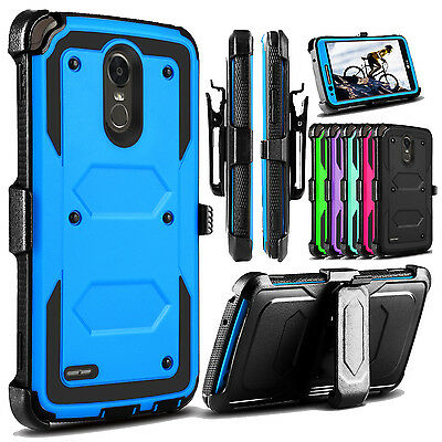 Kickstand Case - For LG Stylo 4/Stylo 3 Case Belt Clip Holster Hard Kickstand Hybrid Phone Cover