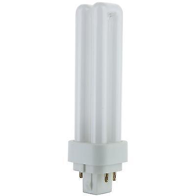 Sunlite 13W PLD 4Pin Double UShaped Twin Tube G24Q1 Plugin 3000K Warm White Bulb