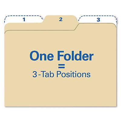 Find It Findit File Folders 13 Cut 11 Pt Stock Letter Manila 80pack Ft07046