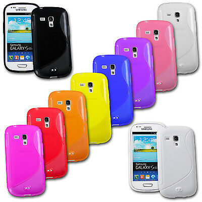 Silikon Case f. Samsung Galaxy S3 mini i8190 i8195 TPU Schutz Cover Hülle Tasche ()