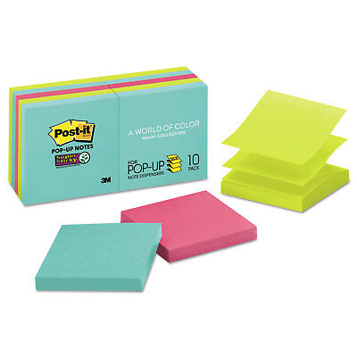 Post-it Pop-up Notes Super Sticky Pop-up 3 X 3 Note Refill Miami 90pad 10 Pads