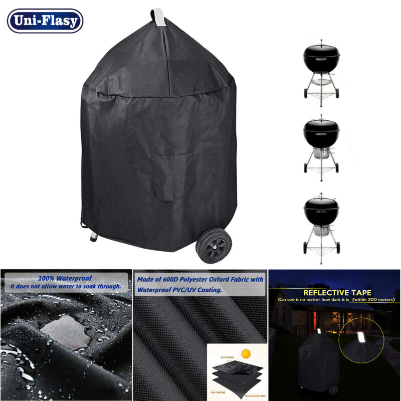 """Waterproof Grill Cover for Weber 22"""" Premium Charcoal Grills Char Broil Grills"""