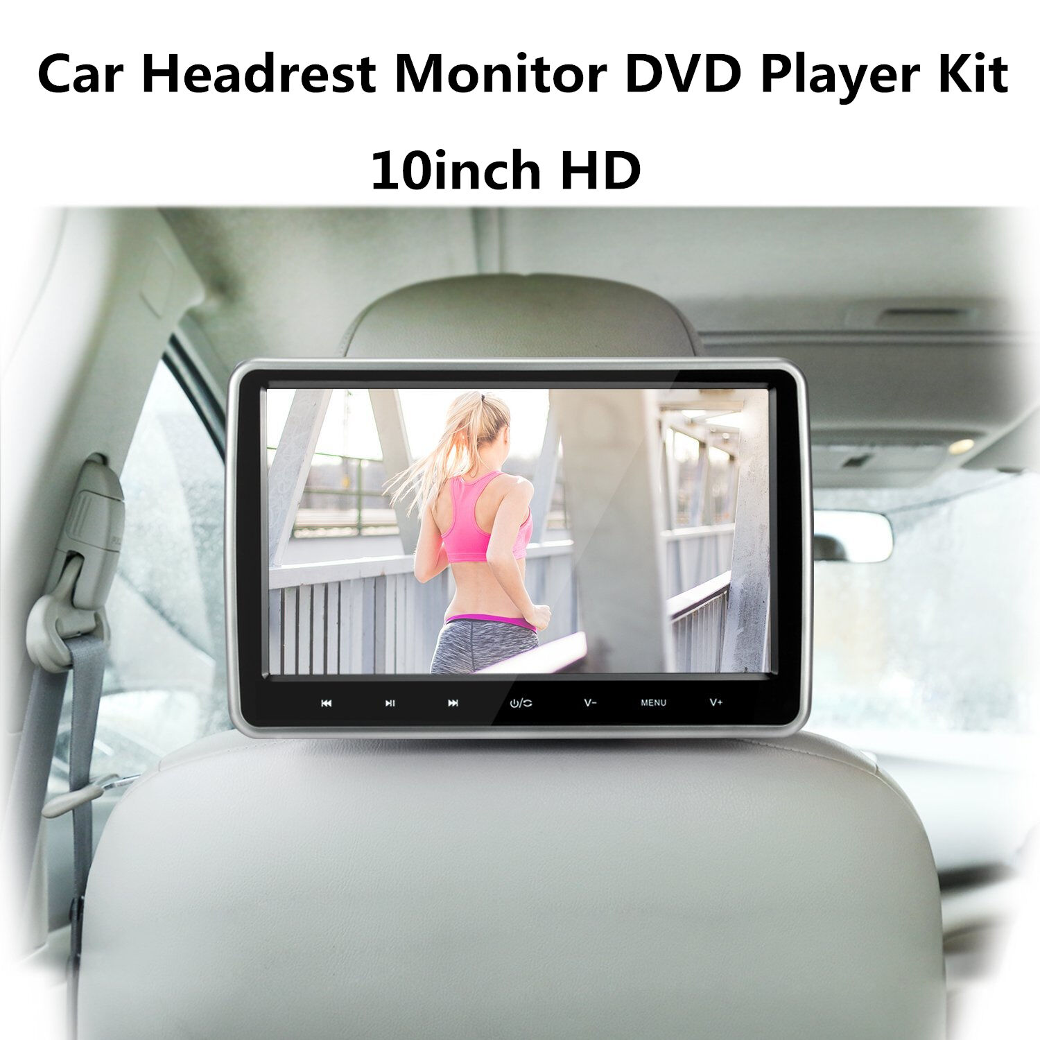 10.1 HD Car Headrest Monitor DVD Player Kit USB/SD/HDMI/FM/Game TFT LCD Screen