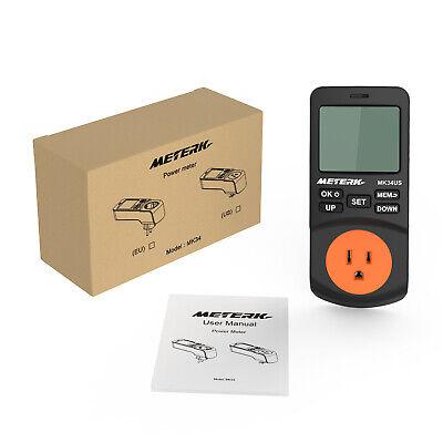 Meterk Plug-in Lcd Power Watt Meter Digital Timer Energy Tester 1224 Mode D1p9
