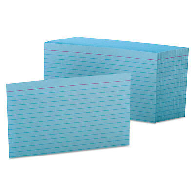 Oxford Ruled Index Cards 4 X 6 Blue 100pack 7421blu