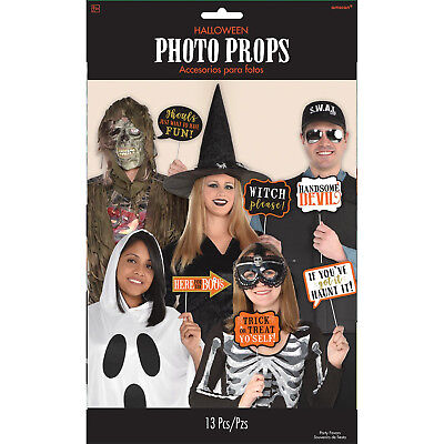13 x Halloween Photo Booth Face Photo Frame Props Party Activity Ideas - Halloween Party Booth Ideas